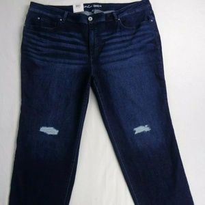 INC Womens Tummy Control Jeans Size 28W Mid Rise